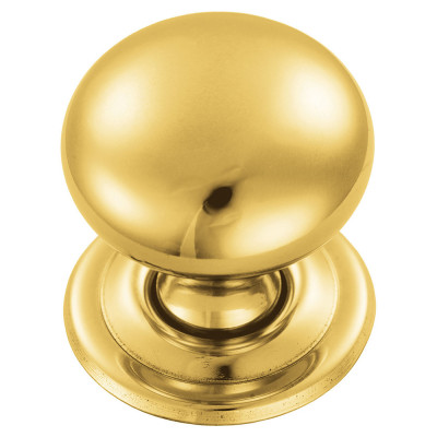 Hollow victorian knob, 32 mm, brass