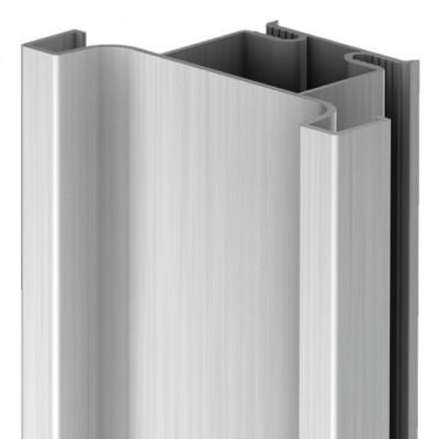 Profile handle, vertical fixing between doors, Gola system D, L=2.67 m, graphite
