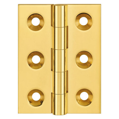 Butt hinge (unwashered), 51x38 mm, no screws, satin nickel polished