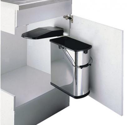 Slim line waste recycler bin, min CW=450 mm, 19 litre, WESCO, stainless steel