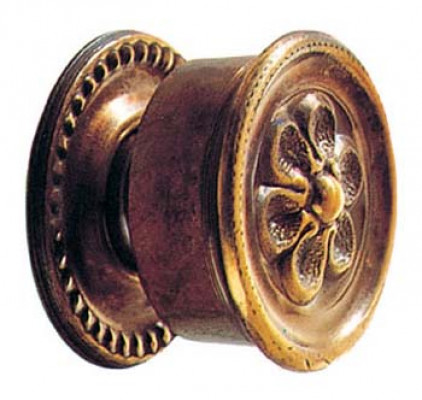 "Shutter knob, 1 1/2"". antique brass"
