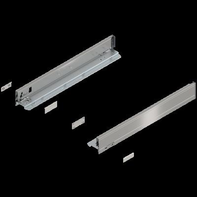 LEGRABOX drawer side, height N (67 mm), NL=500 mm, left+right, stainless steel