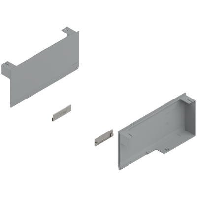 AVENTOS HK top stay lift, cover cap set, left+right, light grey/stainless steel brushed