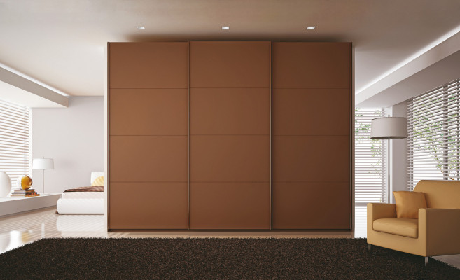 Fitting set, for sliding wardrobe doors, PS48.1, for outer door, door thickness 18-28 mm