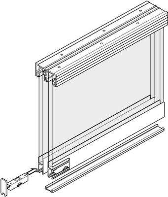 Display Sys 6mm Glass 1.2M 2Door