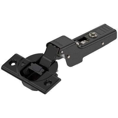CLIP top BLUMOTION hinge 107°, dual applications, boss: SCREW-ON, onyx black