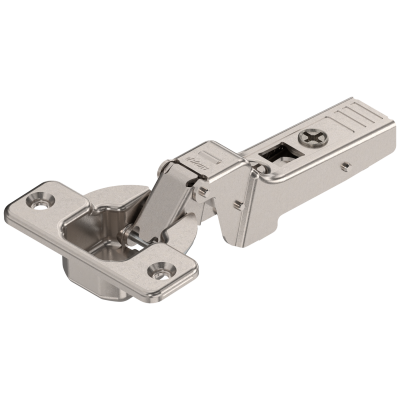 CLIP top profile hinge 95°, dual applications, unsprung, boss: SCREW-ON, 9.5 mm, nickel
