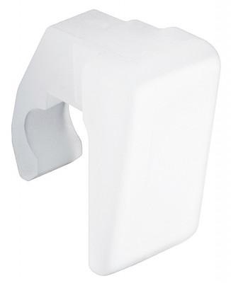Replacement plastic clip, for pull down wardrobe rail, white