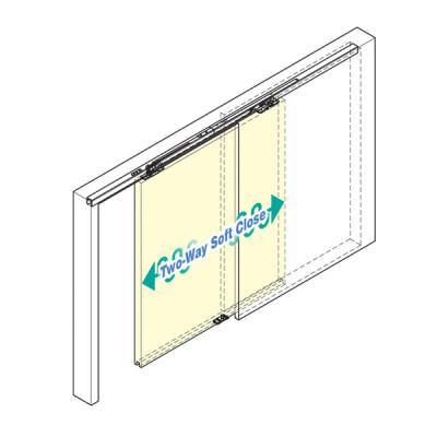 Recessed mount type for pocket door