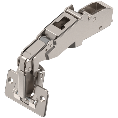 CLIP top wide angle hinge 170°, dual applications, unsprung, boss: screw-on, nickel