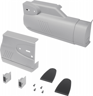 AVENTOS HK bi-fold lift system, cover cap set (inc trigger switch), left+right, grey