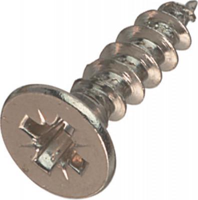 Hospa screw, chipboard, countersunk head PZ cross slot, threaded  3.5 mm, 17 mm, nickel