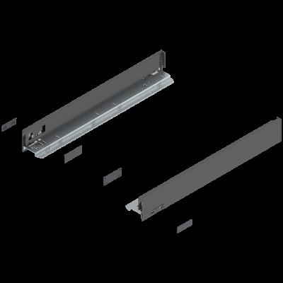 LEGRABOX drawer side, height N (67 mm), NL=450 mm, left+right, orion grey