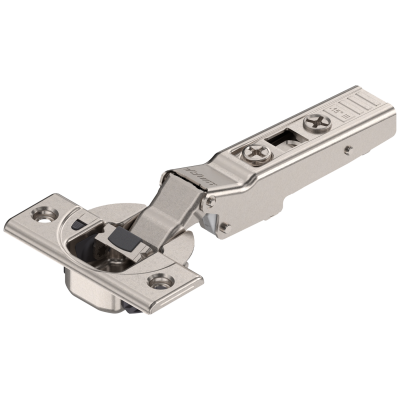 CLIP top BLUMOTION angled hinge 110° for -15° application, OVERLAY, boss: SCREW-ON, nickel