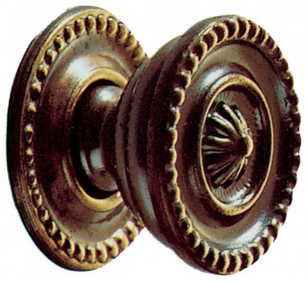 "Knob, 1 1/4"", antique brass"