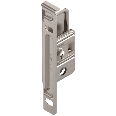 METABOX front fixing bracket, height M/K/H, screw-on, left, nickel