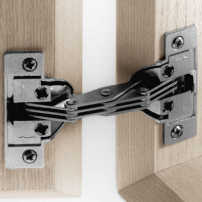 Mitred hinge, for 45ø mitred applications, screw fixing