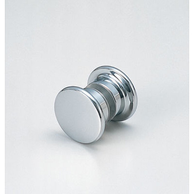 Knob, both-sides, chrome