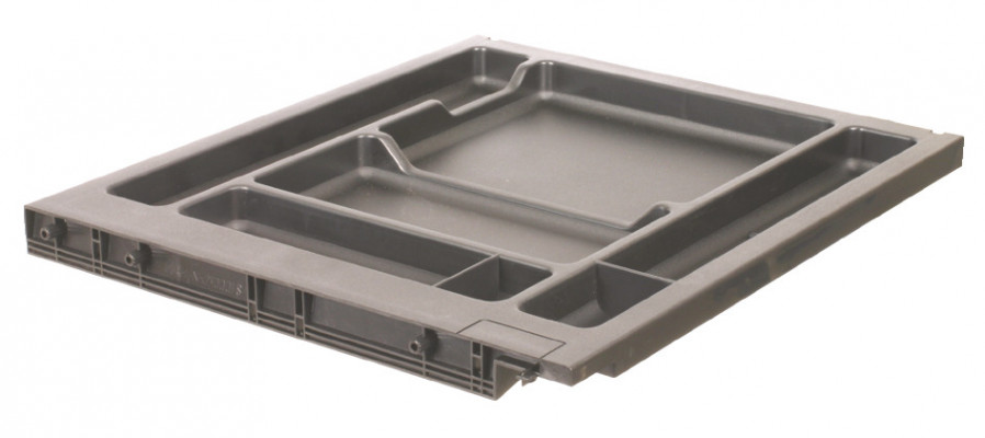 Stationery tray, for variant c +, for office supplies , black RAL 9011