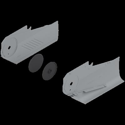 AVENTOS HS Lever Arm Cover Caps left+right, light grey
