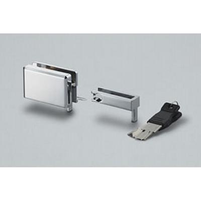Lock for sliding glass door, chrome