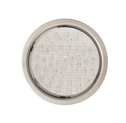 LED GX53, recessed metal downlight for QGX53.LED.WW, D=85 mm, 1.5M cable, stainless steel