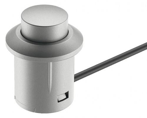 Push switch, 14 mm , for use with Loox LED lights, grey