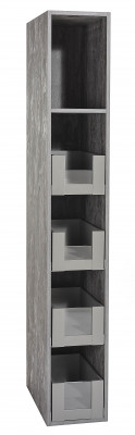 SPACE TOWER SLIM, CW=300 mm, NL=450 mm, height C (193 mm), low/high glass, orion grey