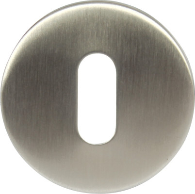 Escutcheons, for startec lever handles, standard keyway, ø 50 mm, stainless steel, satin
