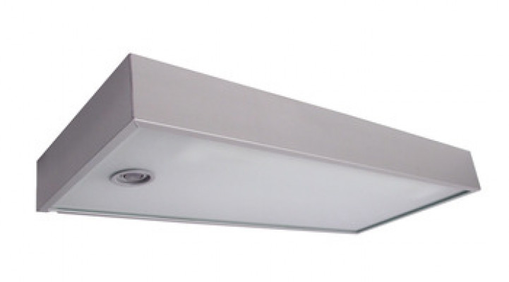 Fluorescent shelf Light, 240V/8W, L=450 mm, IP20, on/off switch, daylight, aluminum
