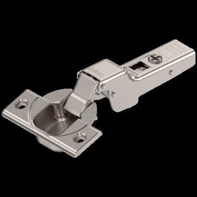 CLIP top hinge 110°, dual applications,sprung. boss: SCREW-ON, nickel