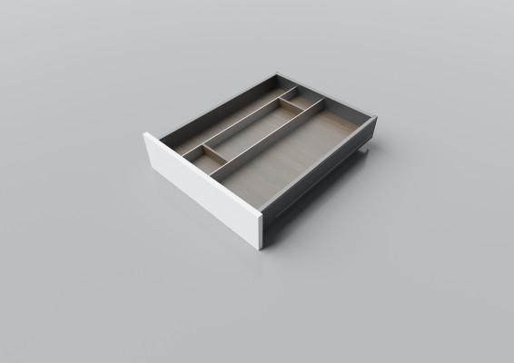 Cutlery divider for LEGRABOX/TA'OR C=500-550 mm, NL=600 mm, walnut