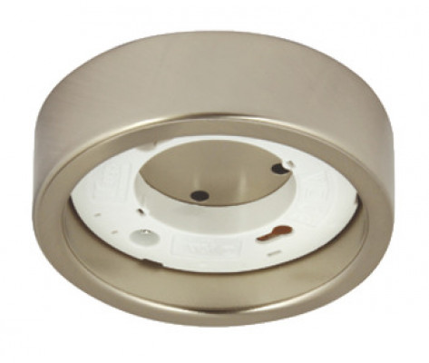 Downlight housing to suit GX53 downlights, surface, Ø 96 mm, stainless steel, IP20, satin
