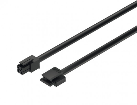 Switch to driver lead, for Loox modular switches, L=2000 mm, black