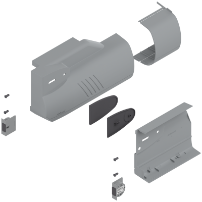 AVENTOS HK lift system, cover cap set (inc trigger switch), left+right, light grey