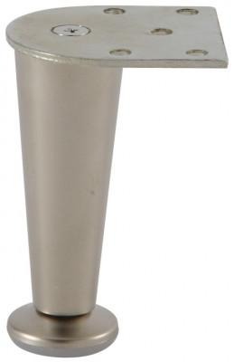 Furniture foot, height 100 mm, zinc alloy, matt nickel