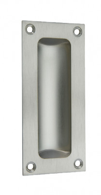 Pull handle, flush, 102x45 mm, polished chrome