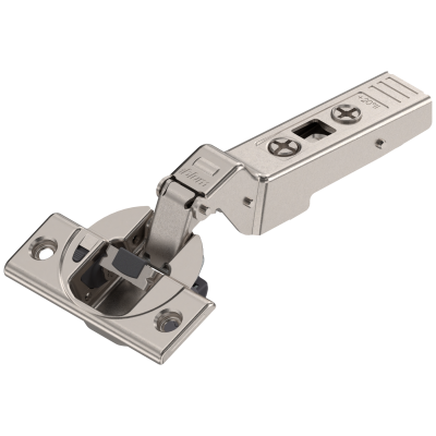 CLIP top BLUMOTION OVERLAY angled hinge for +20° applications, boss: SCREW-ON, nickel