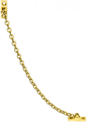 Safety chain, for fall flaps & cupboard doors, polished, 200 mm