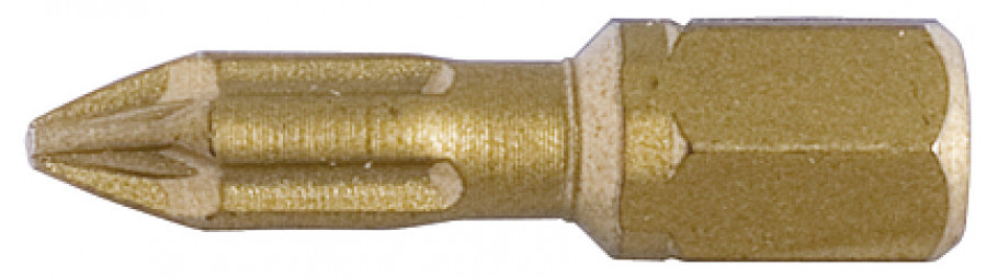 Driver bit, torsion, short, pozi, 1/4in, for screw › 3 mm,size: PZ1