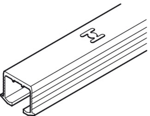 Top track, for single sliding cabinet doors, eku clipo, top hung system, L=3500 mm
