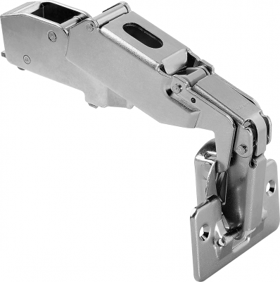 CLIP top wide angle hinge 170°, dual applications, boss: screw-on, NP