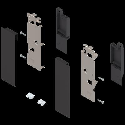 LEGRABOX, inner front fixing bracket, height C (177 mm), left+right, orion grey