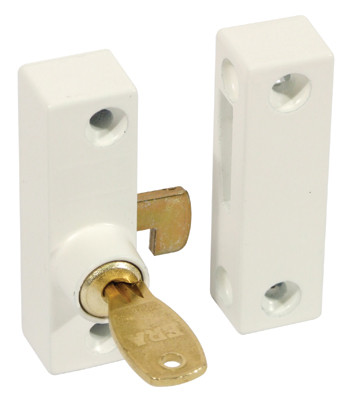 Flush Pivot Lock With Cut Key Wht