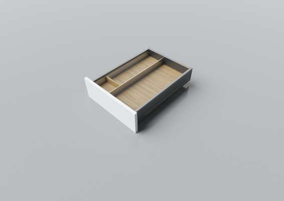 Cutlery divider for LEGRABOX/TA'OR C=400-450 mm, NL=500 mm, oak