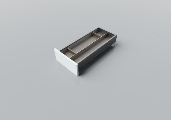 Cutlery divider for LEGRABOX/TA'OR C=300-350 mm, NL=600 mm, walnut