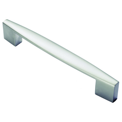 Tapered end handle, centres 160 mm, satin nickel
