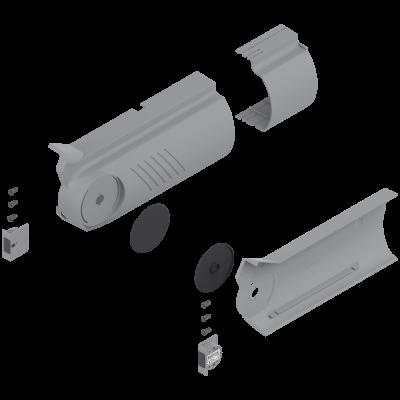AVENTOS HF bi-fold lift system, cover cap set (inc trigger switch), left+right, light grey