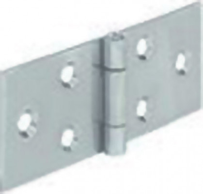 Horizontal hinge, steel, heightxwidth: 25x60 mm