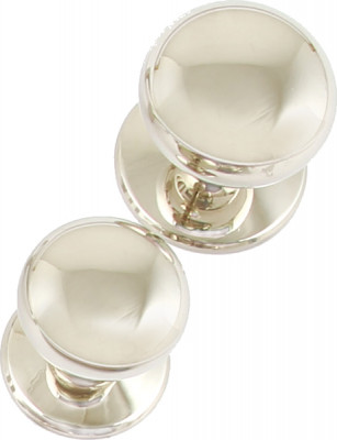 Knob, brass,  32 mm, mulberry, polished nickel